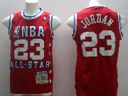 Mens Nba 1992 All Star Chicago Bulls 23 Jordan Red Hardwood Classic Jersey (m)