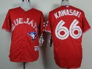 Mens mlb toronto blue jays #66 kawasaki red Jersey