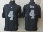 mens nfl Las Vegas Raiders #4 Derek Carr black limited jersey