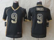 youth nfl New Orleans Saints #9 Drew Brees black 2014 new drift fashion elite jersey