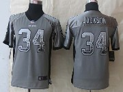 Youth Nfl Okaland Raiders #34 Bo Jackson Gray 2014 New Drift Fashion Elite Jersey