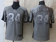 Youth Nfl Okaland Raiders #34 Bo Jackson Gray 2014 New Drift Fashion Elite Jersey