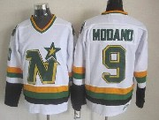 Mens Nhl Dallas Stars #9 Modano White Throwbacks Ccm Jersey