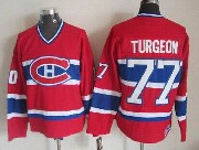Mens Nhl Montreal Canadiens #77 Turgeon Red Throwbacks Jersey Dt
