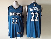 Mens Nba Minnesota Timberwolves #22 Wiggins Blue Revolution 30 Jersey (p)