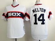 Mens mlb chicago white sox #14 melton white throwbacks 1983 Jersey