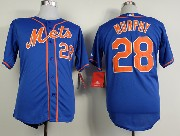 Mens mlb new york mets #28 murphy blue Jersey