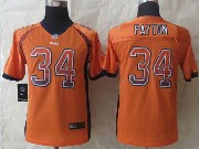 youth nfl Chicago Bears #34 Walter Payton orange (2014 new drift fashion) elite jersey