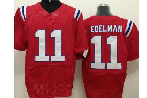 mens nfl New England Patriots #11 Julian Edelman red elite jersey