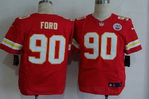 Mens Nfl Kansas City Chiefs #90 Ford Red Elite Jersey