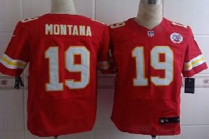 Mens Nfl Kansas City Chiefs #19 Montana Red Elite Jersey