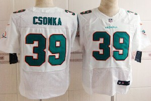 Mens Nfl Miami Dolphins #39 Csonka White (2013 New) Elite Jersey