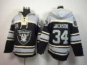 Mens Nfl Oakland Raiders #34 Bo Jackson Black (team Hoodie) Jersey