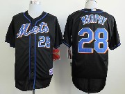 Mens mlb new york mets #28 murphy black Jersey