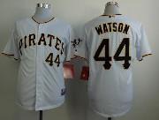 Mens mlb pittsburgh pirates #44 watson white Jersey