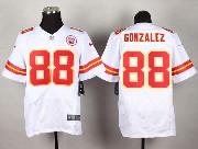 Mens Nfl Kansas City Chiefs #88 Gonzalez White Elite Jersey