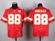 Mens Nfl Kansas City Chiefs #88 Gonzalez Red Elite Jersey