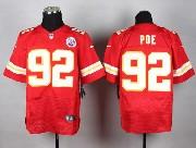 Mens Nfl Kansas City Chiefs #92 Poe Red Elite Jersey