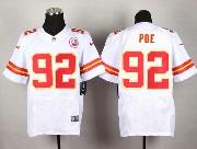 Mens Nfl Kansas City Chiefs #92 Poe White Elite Jersey