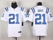 Mens Nfl Indianapolis Colts #21 Davis White Elite Jersey