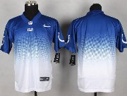 Mens Nfl Indianapolis Colts (blank) Blue&white Drift Fashion Ii Elite Jersey