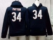 youth nfl Chicago Bears #34 Walter Payton blue hoodie jersey