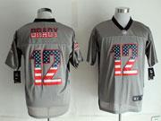mens nfl new New England Patriots #12 Tom Brady 2014 usa flag fashion gray shadow elite jerseys