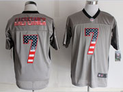mens nfl new San Francisco 49ers #7 Colin Kaepernick 2014 usa flag fashion gray shadow elite jerseys