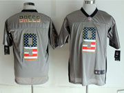 mens nfl New Orleans Saints #9 Drew Brees 2014 usa flag fashion gray shadow elite jerseys