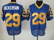 Mens nfl la rams #29 dickerson blue throwbacks Jersey