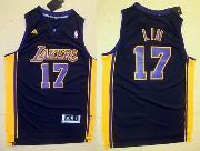 Mens Nba Los Angeles Lakers #17 Lin Purple Jersey (p)