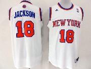 Mens Nba New York Knicks #18 Jackson White Revolution 30 Jersey (p)