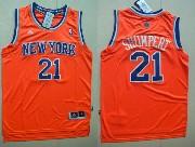Mens Nba New York Knicks #21 Shumpert Orange Jersey (p)