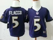 Kids Nfl Baltimore Ravens Custom Made Purple Game Jersey