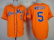 Mens mlb new york mets #5 wright orange Jersey