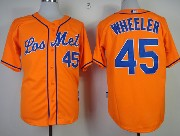 Mens mlb new york mets #45 wheeler orange Jersey