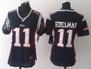 women  nfl New England Patriots #11 Julian Edelman blue game jersey