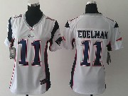 women  nfl New England Patriots #11 Julian Edelman white game jersey