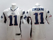 mens nfl New England Patriots #11 Julian Edelman white elite jersey