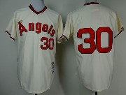 Mens mlb los angeles angels #30 ryan cream throwbacks Jersey