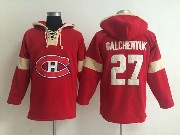 Mens nhl montreal canadiens #27 galchenyuk red (new single color) hoodie Jersey