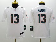 Youth Nfl Miami Dolphins #13 Marino White (2013 New) Limited Jersey