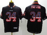 mens nfl Chicago Bears #34 Walter Payton black (2014 usa flag fashion) elite jersey
