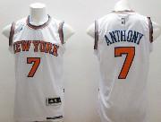 mens nba New York Knicks #7 Carmelo Anthony white (2015 new) jersey