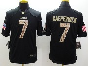 mens nfl San Francisco 49ers #7 Colin Kaepernick salute to service black limited jersey