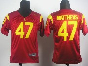 Youth Ncaa Nfl Usc Trojans #47 Matthews Red Elite Jersey Gz