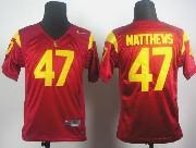 Youth Ncaa Nfl Usc Trojans #47 Matthews Red Elite Jersey Gz