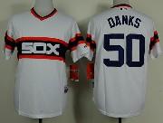 Mens Mlb Chicago White Sox #50 Danks White Pullover Jersey