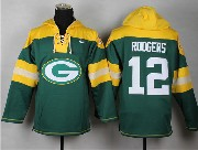 mens nfl Green Bay Packers #12 Aaron Rodgers green (new single color) hoodie jersey