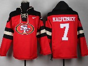 mens nfl San Francisco 49ers #7 Colin Kaepernick red (new single color) hoodie jersey